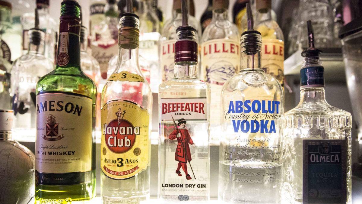 Vodka tequila rum